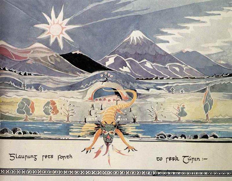 J.R.R._Tolkien_-_Glaurung_sets_forth_to_seek_Turin