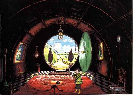 J.R.R._Tolkien_-_The_Hall_at_Bag-End_Residence_of_B._Baggins_Esquire_Colored_by_H.E._Riddett