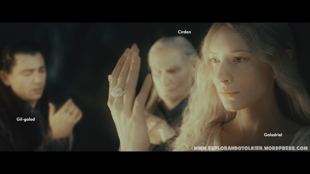 Cìrdan Gil-galad Galadriel Lord of the Rings movie
